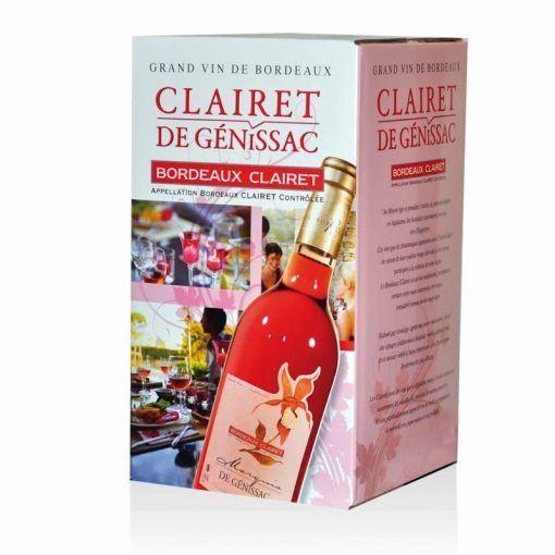 fontaine à vin ( bag in box) bordeaux clairet AOC 5 litres