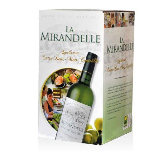 fontaine à vin (bag in box) blanc sec entre-deux-mers AOC 5 litres